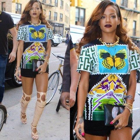 Rihanna in Mary Katrantzoe