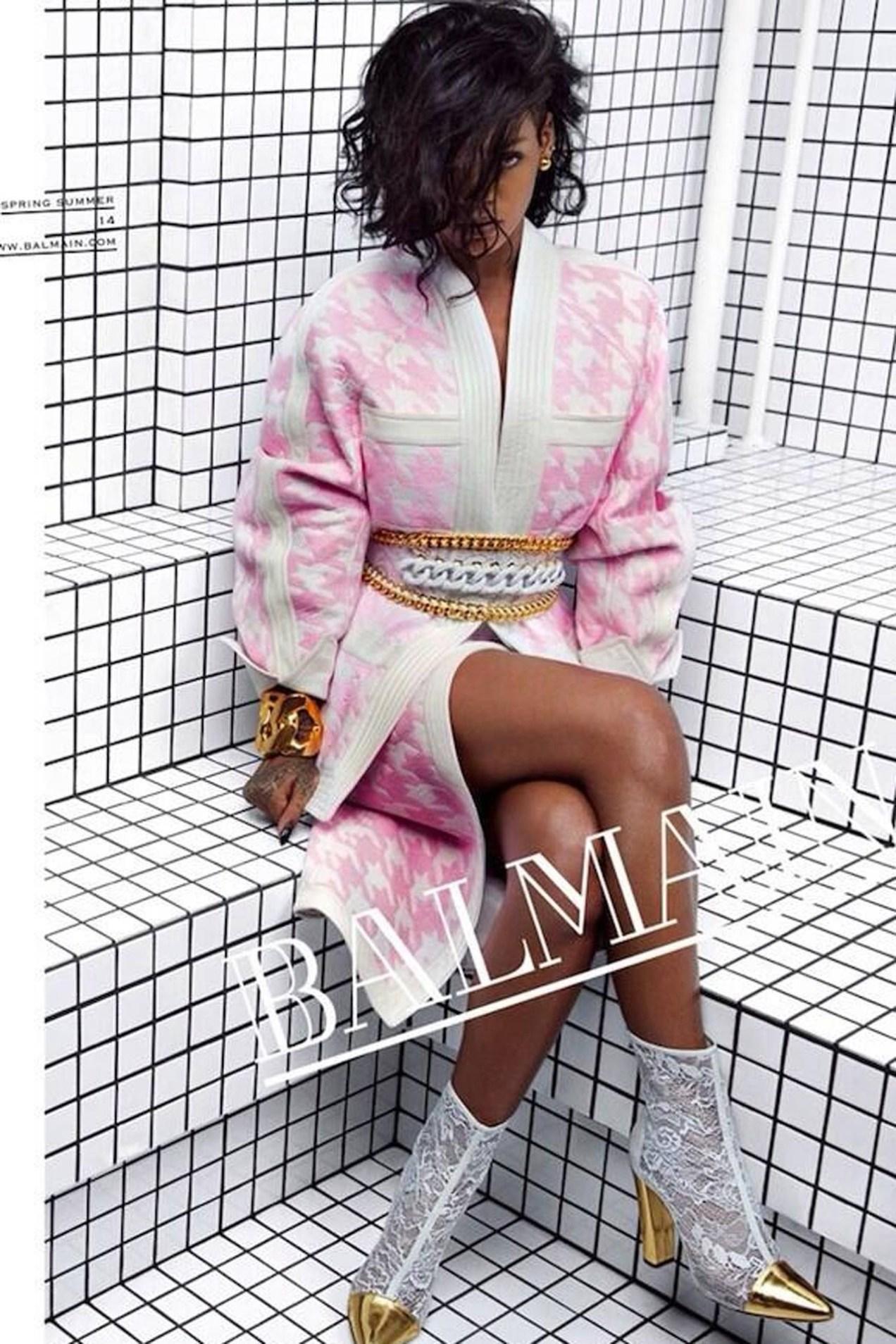 Fashion Icon Rihanna for Balmain